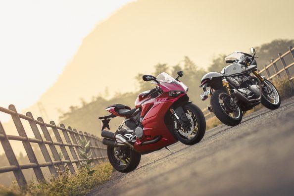 Triumph Thruxton R x Ducati 959 Panigale | OVERDRIVE